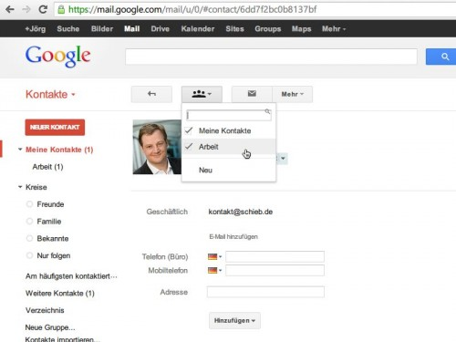 gmail-kontakte-gruppe-einsortieren