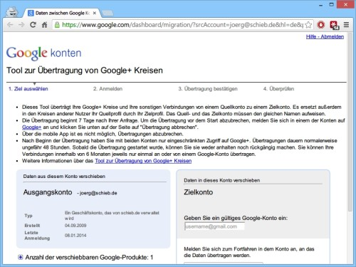 google-plus-konto-uebertragen