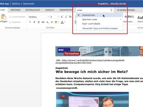 word-web-app-was-moechten-sie-tun