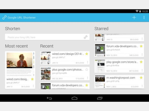 android-app-google-url-shortener