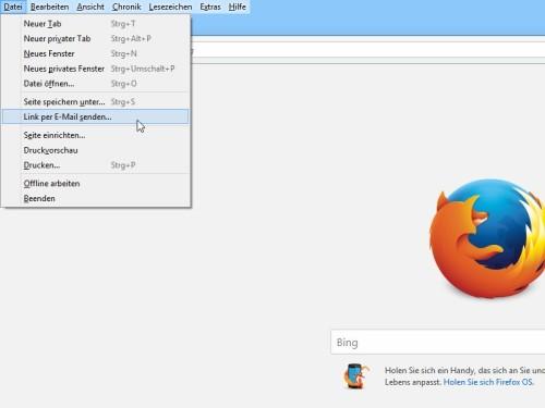 Firefox Link Zu Einer Webseite Per Email Senden Schiebde