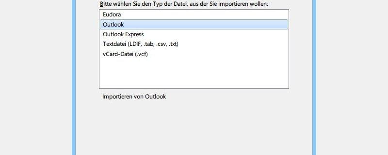 outlook adressbuch importieren