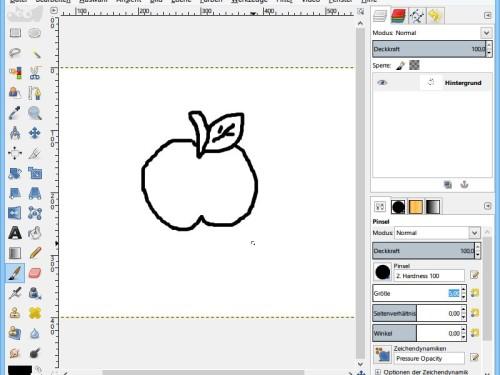 gimp-malvorlage-selbst-zeichnen