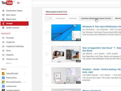 youtube-wiedergabeverlauf-loeschen