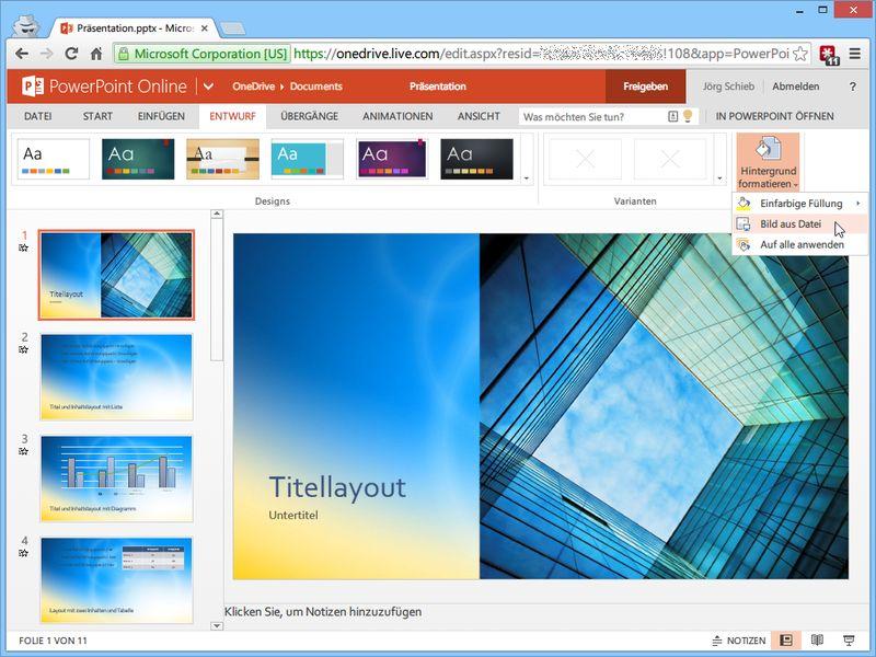 Hintergrund powerpoint speichern