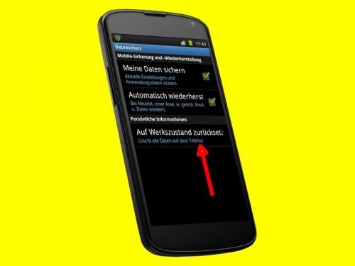 android-werkseinstellungen