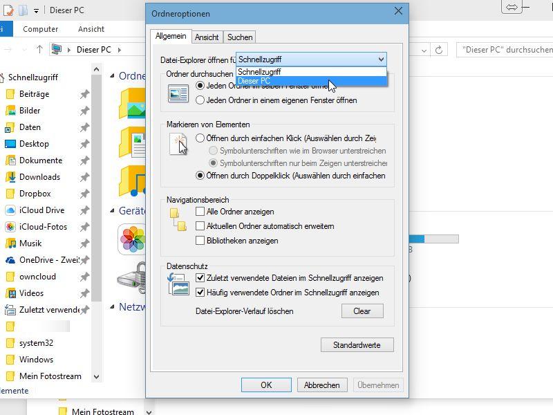 Windows Explorer öffnen