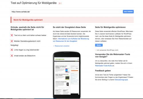 google mobile tester