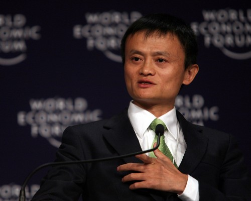 TIANJIN/CHINA, 28SEPT08 - Jack Ma Yun, Chairman and Chief Executive Officer, Alibaba Group, speaks during The Future of the Global Economy: The View from China plenary session at the World Economic Forum Annual Meeting of the New Champions in Tianjin, China 28 September 2008. Copyright World Economic Forum (www.weforum.org)/Photo by Natalie Behring