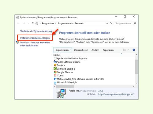 windows-installierte-updates-anzeigen