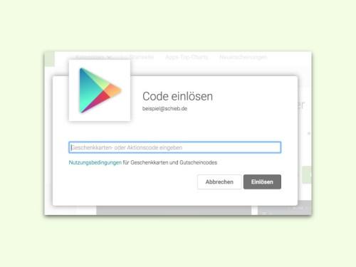 Gutschein play gratis store code Kostenlose Geschenkkarten