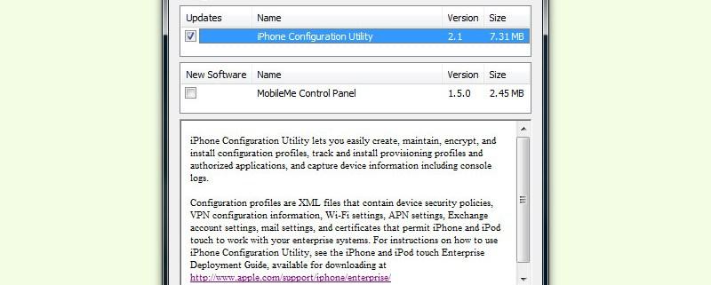 iTunes und andere Apple-Software in Windows automatisch