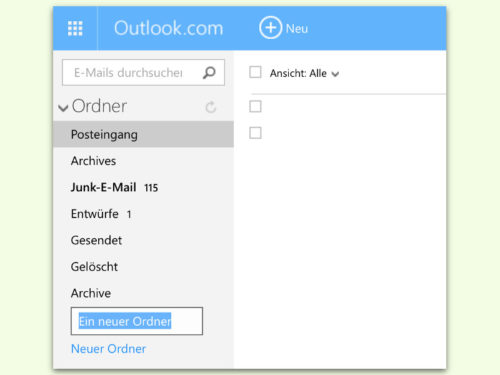outlook.com-neuer-ordner