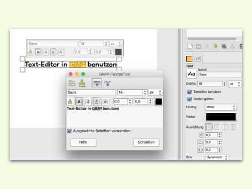 gimp-text-editor-benutzen