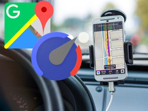 Geschwindigkeitsanzeige In Google Maps Schiebde