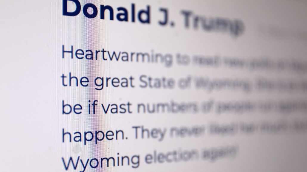 Donald Trump mit eigenem Blog