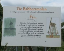 SCIDAM-SCHILDJE VOOR BABBERSMOLEN