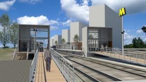 De bestaande stations Maassluis en Maassluis West worden omgebouwd tot metrostation. In de Burgemeesterswijk komt het nieuwe station Maassluis Steendijkpolder.