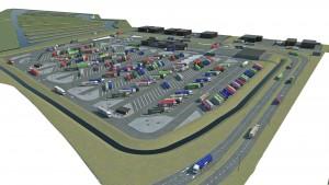 De nieuwe bewaakte truckparking, nabij de vogelvallei, krijgt de naam Maasvlakte Plaza. Daarvan worden ruim 80 plaatsen geschikt gemaakt voor vrachtwagens met gevaarlijke stoffen (ADR). Ook komen er voorzieningen voor trailers, ECO-combi's (extra lange vrachtwagens), koelcontainers en bijzondere transporten. Naast de truckparking komt een centraal gelegen gebouw met de voor dit park gewenste voorzieningen (informatiebalie, horeca, sanitair -douches en toiletten-, was- en droogmachines, WiFi, lockers en in de toekomst 'Virtual Gate' functies), aangevuld met bijpassende kantoorvoorzieningen. Onderdeel van het project is de herinrichting en uitbreiding van de bestaande Vogelvallei. Daarmee ontstaat een groot aaneengesloten natuurgebied van 21 hectare, bestaande uit diverse eilanden, met daartussen ondiepe waterpartijen.