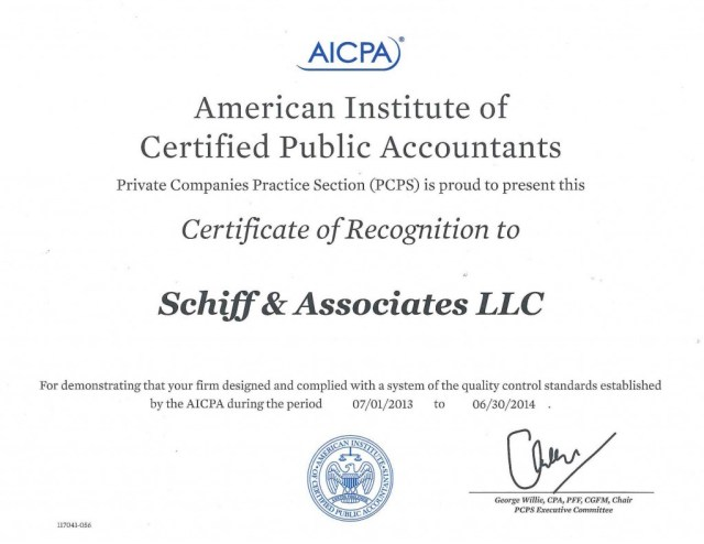 Schiff-Associates-AICPA-Award1-1024x790