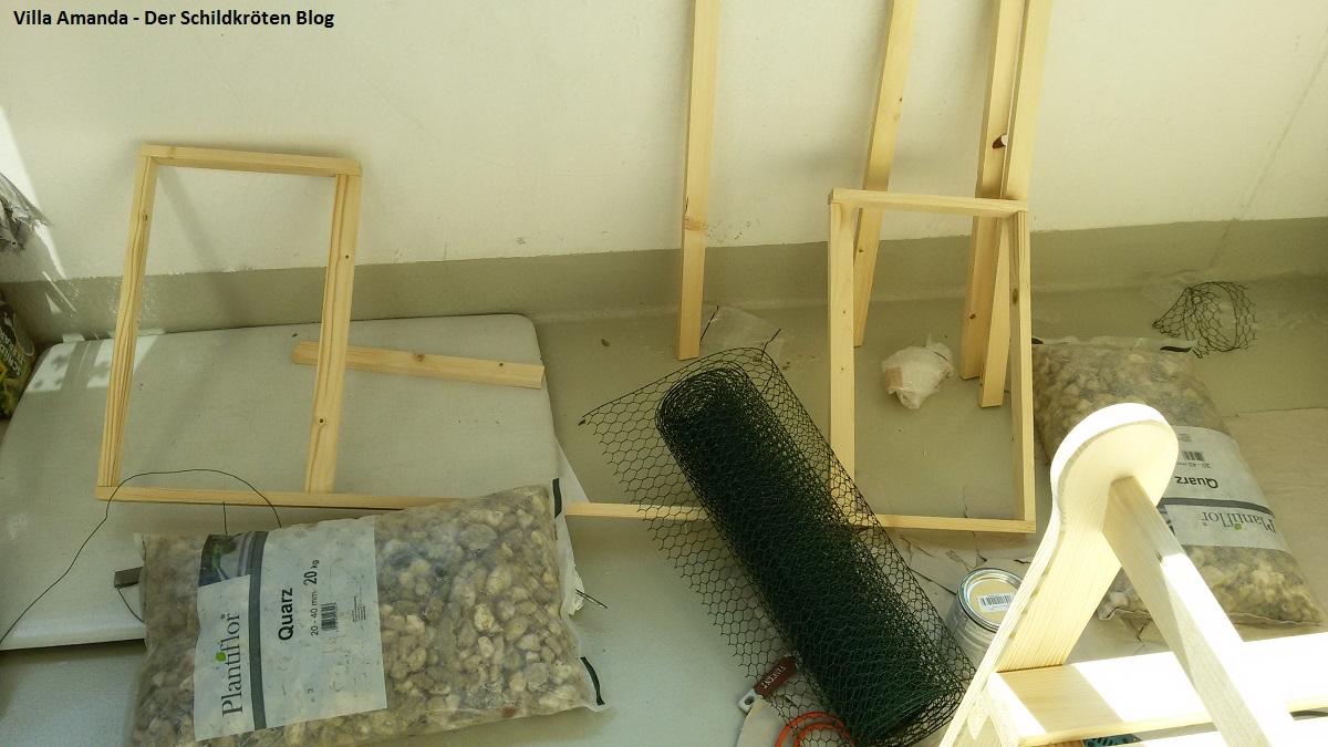 Bau des neuen Schildkröten Balkongeheges Teil 2: Durchführung