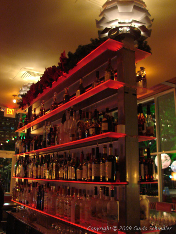The Grove Restaurant Double Sided Bar Back Shelving The