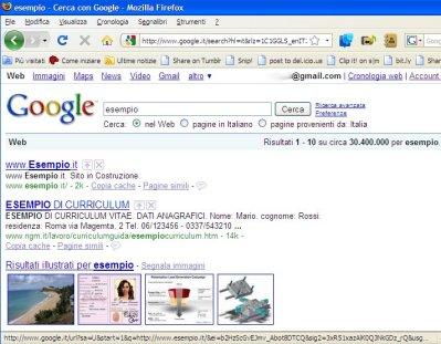 Una semplice ricerca su Google