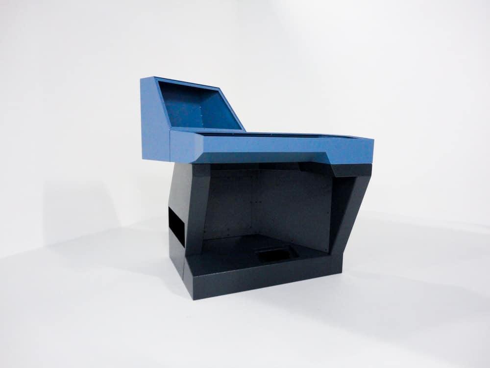 Konstruktionen ohne Grenzen - Eine Pultlösung ohne rechten Winkel, die Form und Funktion in Vollendung vereint.