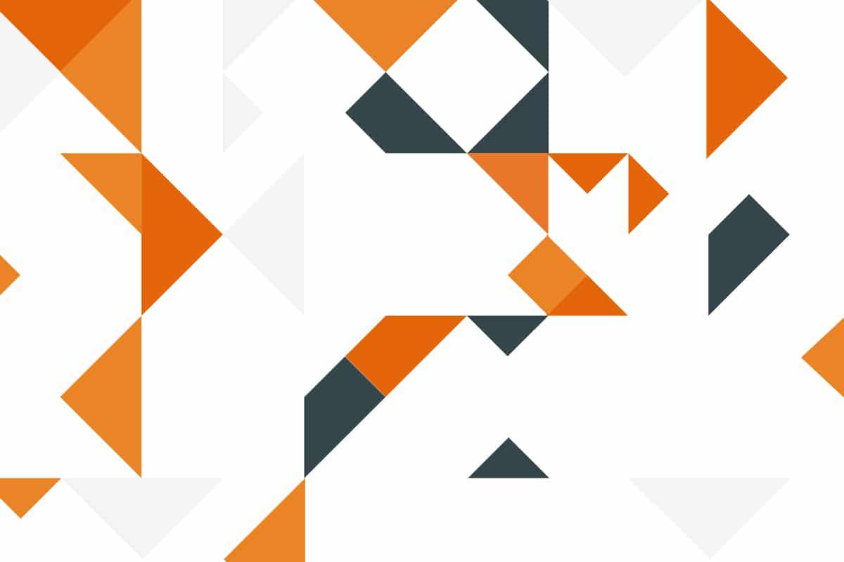 Schinko Default Newsbild - Grafik mit orangen und grauen Dreiecken