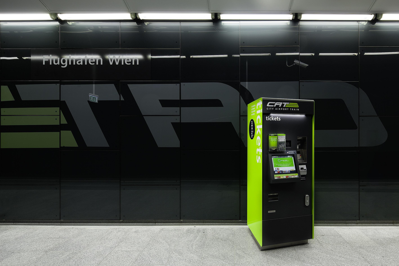 Ticketautomat für den City Airport Train (CAT)