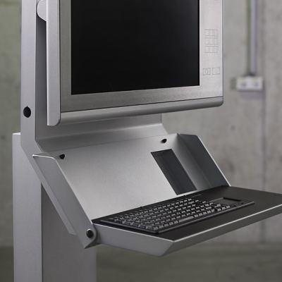 Neues Bediengehäusesystem - Robustes Bediengehäuse für Kantroboter mit eingebauter Tastatur und Bildschirm.