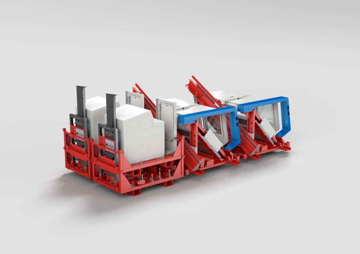 Zyklengesteuerte Drehmaschine - Zyklengesteuerte Drehmaschine auf Transportgestell