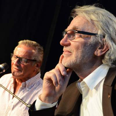 Schinko 25 Jahr Feier - Geschäftsführer Michael Schinko und Liedermacher, Poet, Schauspieler und Komponist Konstantin Wecker bei der 25 Jahr Feier der Firma Schinko..