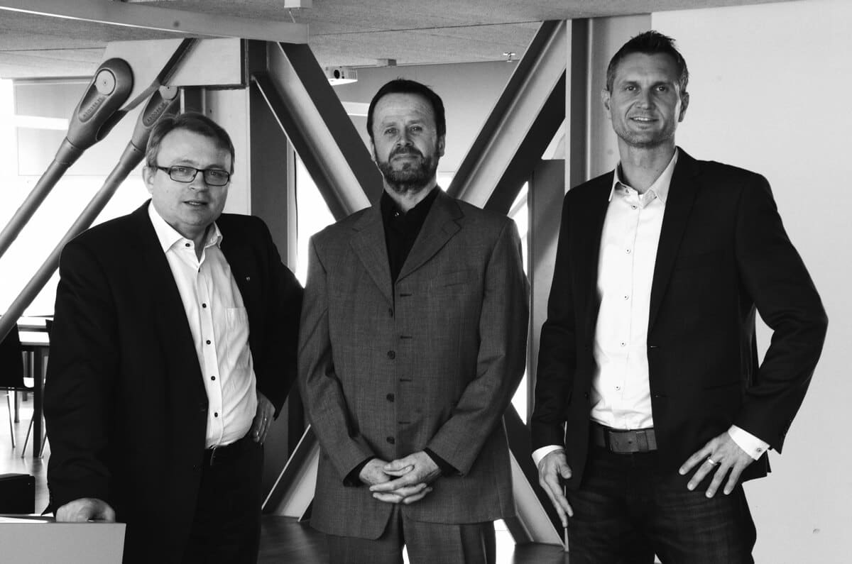 Schinko Geschäftsleitung - Geschäftsführer Gerhard Lengauer und die beiden Prokuristen Mag. Norbert Schiffbänker und Stefan Altmann.