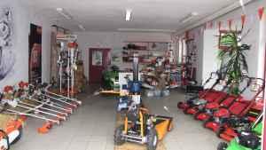 Unser Ausstellungsraum für Forst- und Gartengeräte