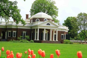 Monticello, Virginia. Der Landsitz von Thomas Jefferson