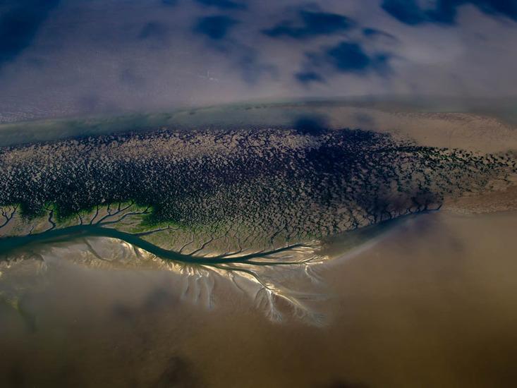 De wadden eilanden vanuit de lucht