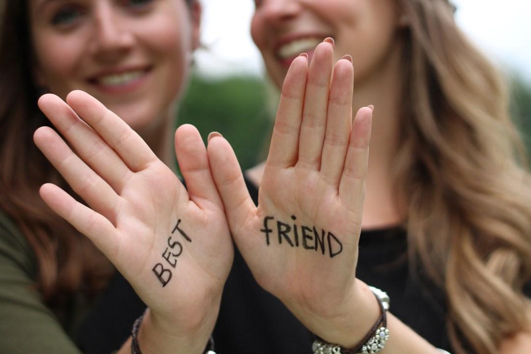 Fotoshoot met twee vriendinnen