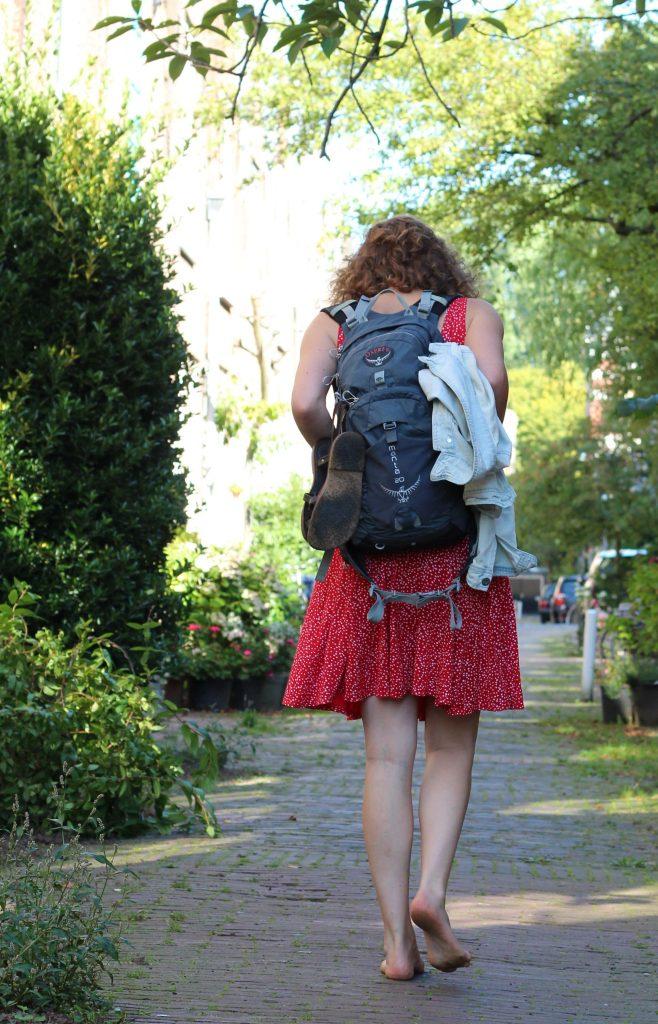Evelien: ''Ik moet in beweging zijn om mijn weg te vinden. Als ik blijf wachten, kom ik er niet''.