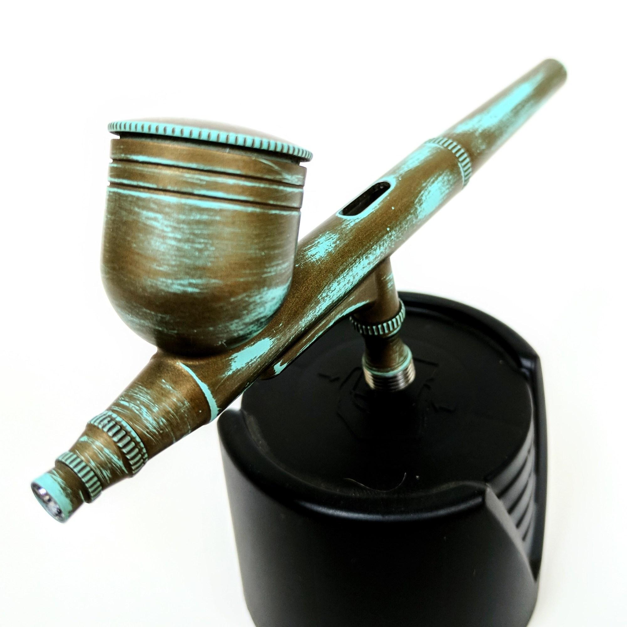 Robin egg blue burnt bronze cerakote airtbrush