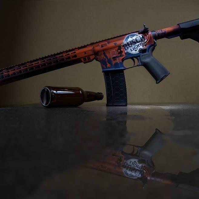 busch light beer gun