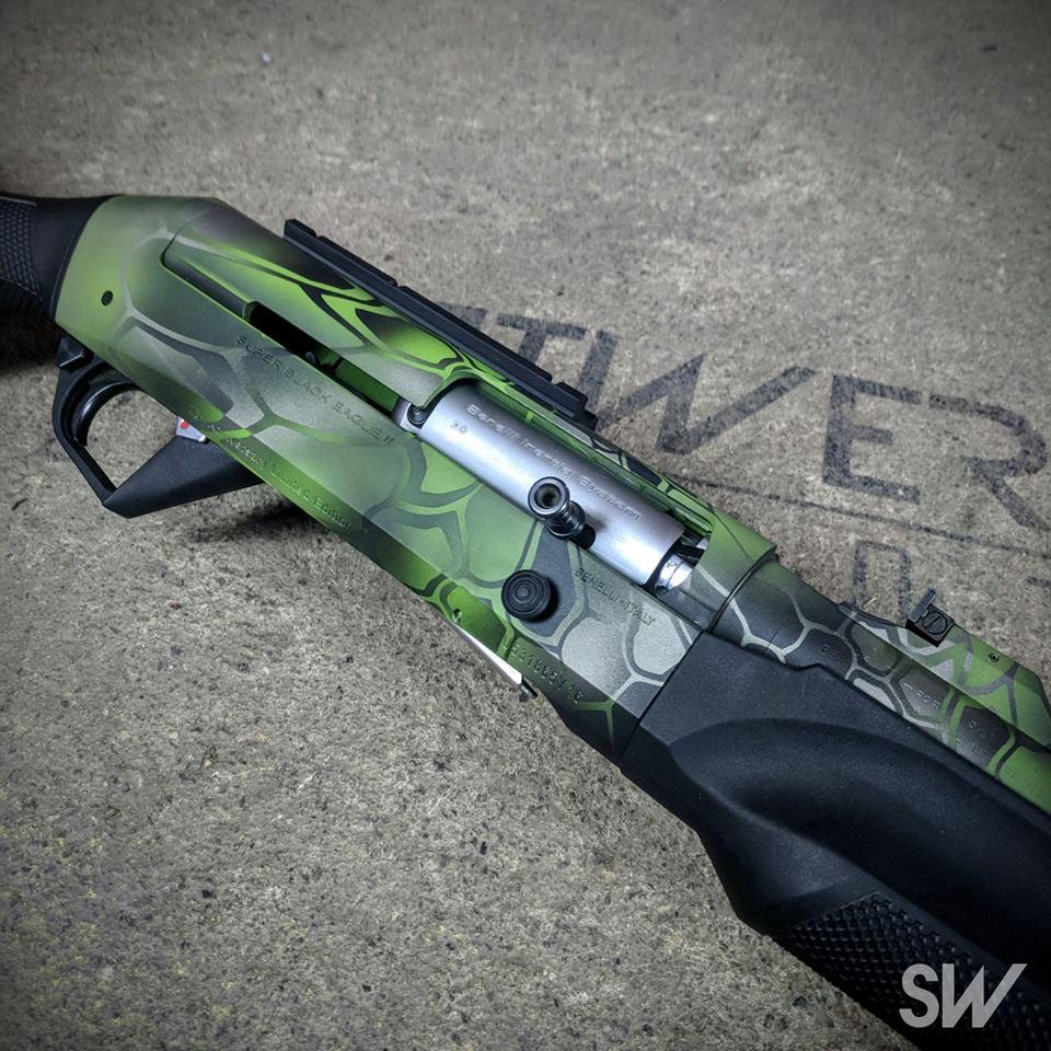 green kryptek shotgun