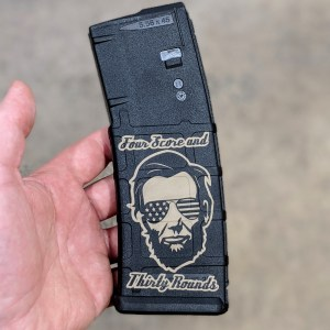 Abe lincoln lasered pmag