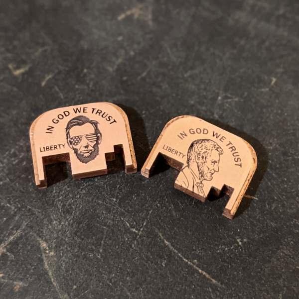 Copper Glock backplates