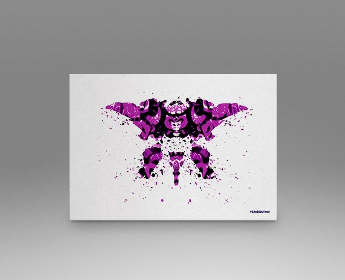 Purple rorschach test print