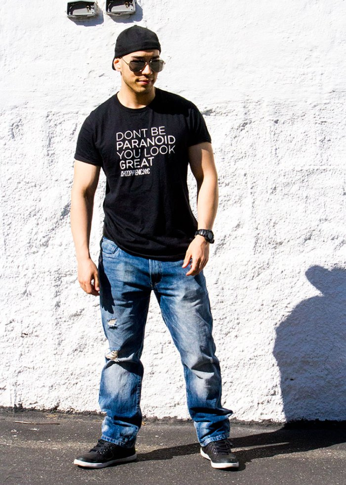Dont be paranoid, you look great t-shirt 3