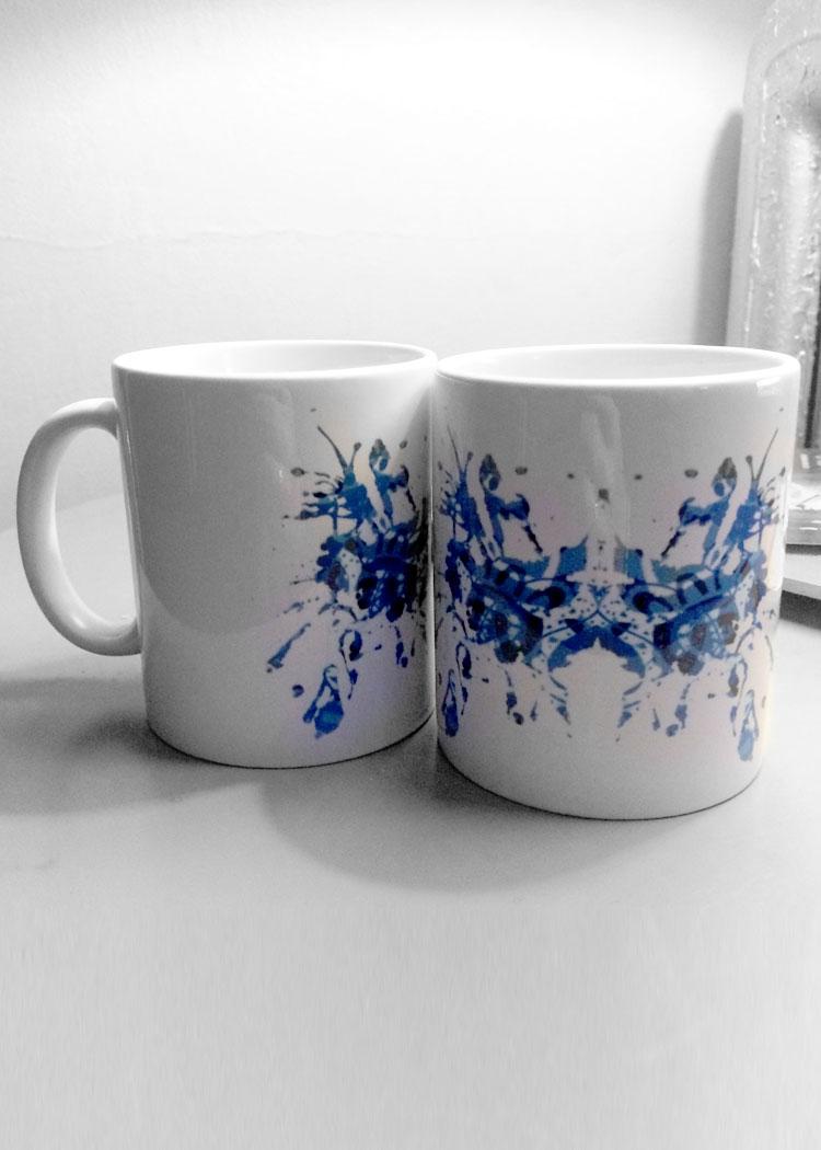 Blue Rorschach Test Ink Blot Mugs 27