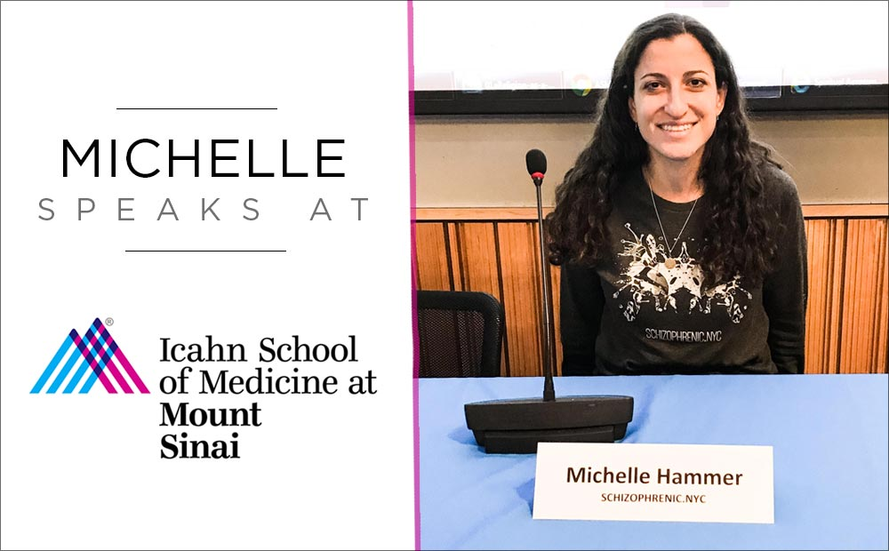 Schizophrenic.NYC Founder, Michelle, Speaks at Mt. Sinai Hospital 116