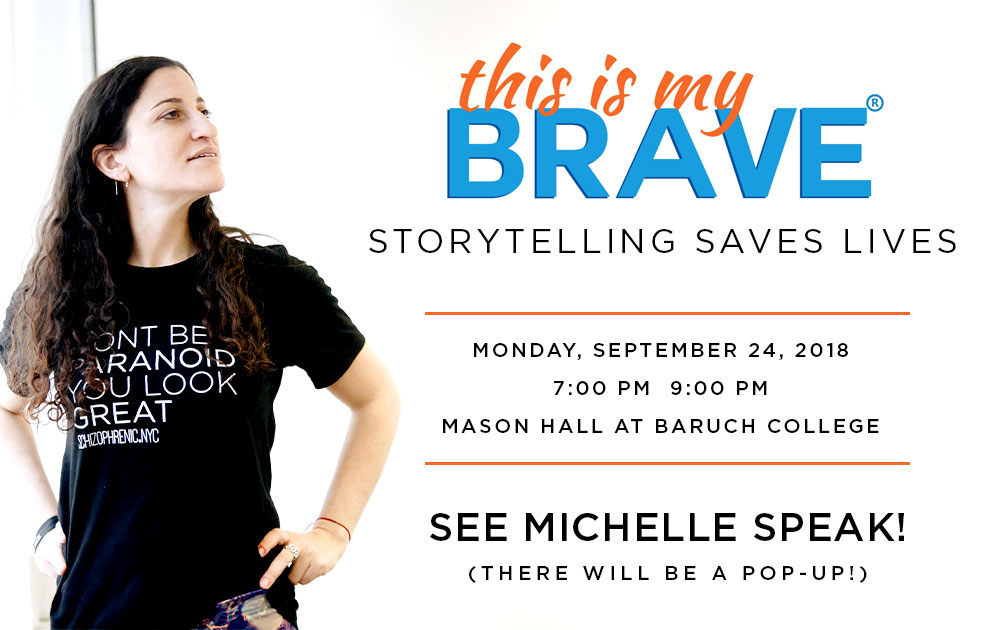 Michelle will be speaking at this is my brave! 44