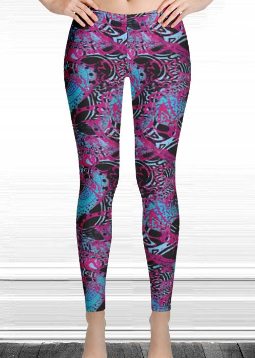 "Michelle's ""believe"" print leggings 3"